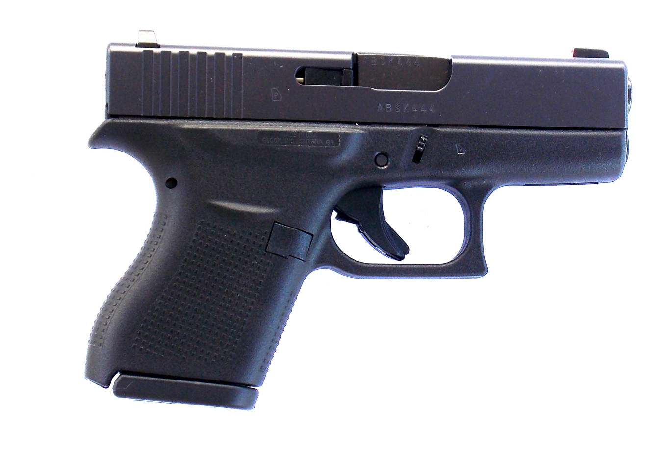 Glock 43 9mm handgun right profile