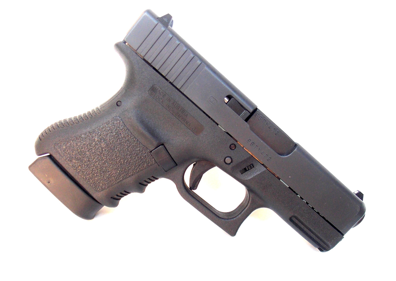 Glock 36 .45 ACP handgun right profile