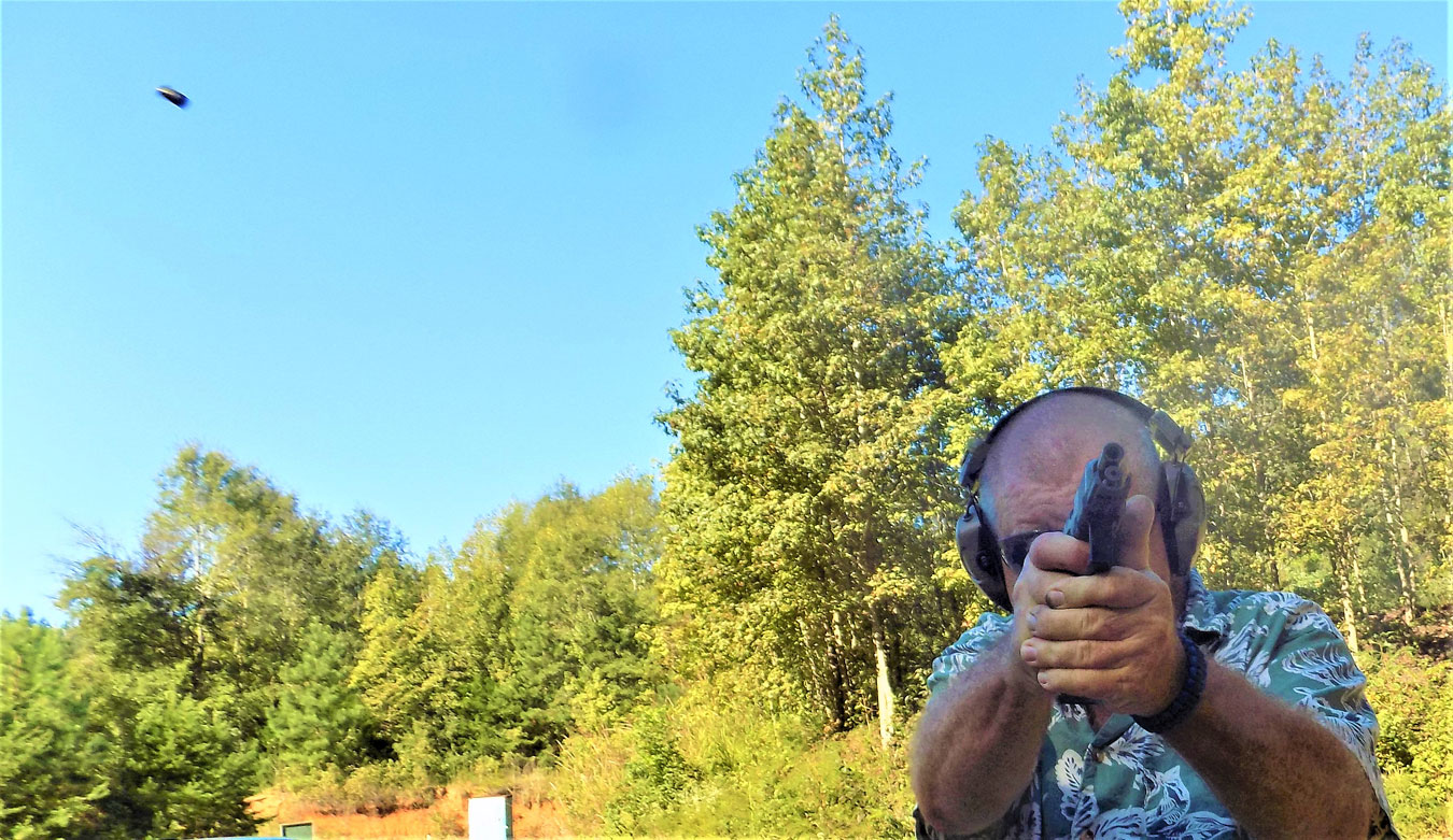 Bob Campbell shooting the Glock G45 pistol