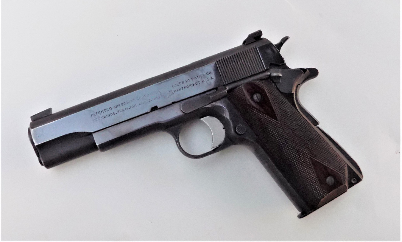 Colt 1911 pistol left profile