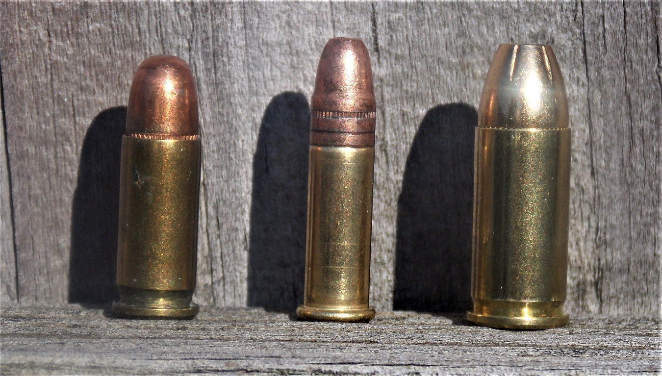 The .25 ACP, far left, compared to the .22 LR and .32 ACP. It is no powerhouse!