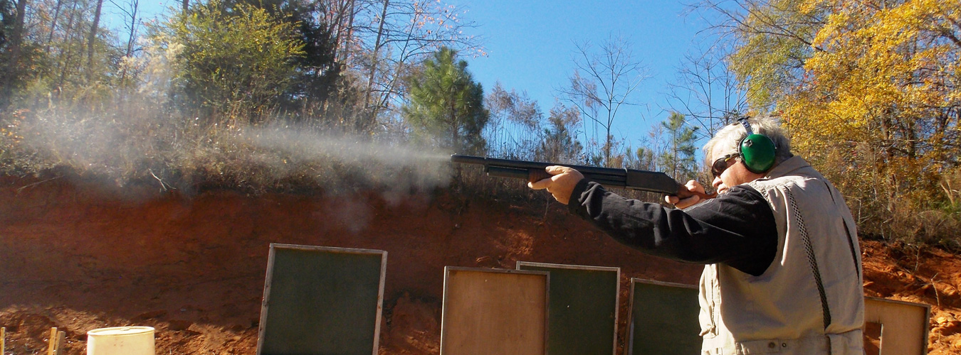 Shotgun as it is being fired