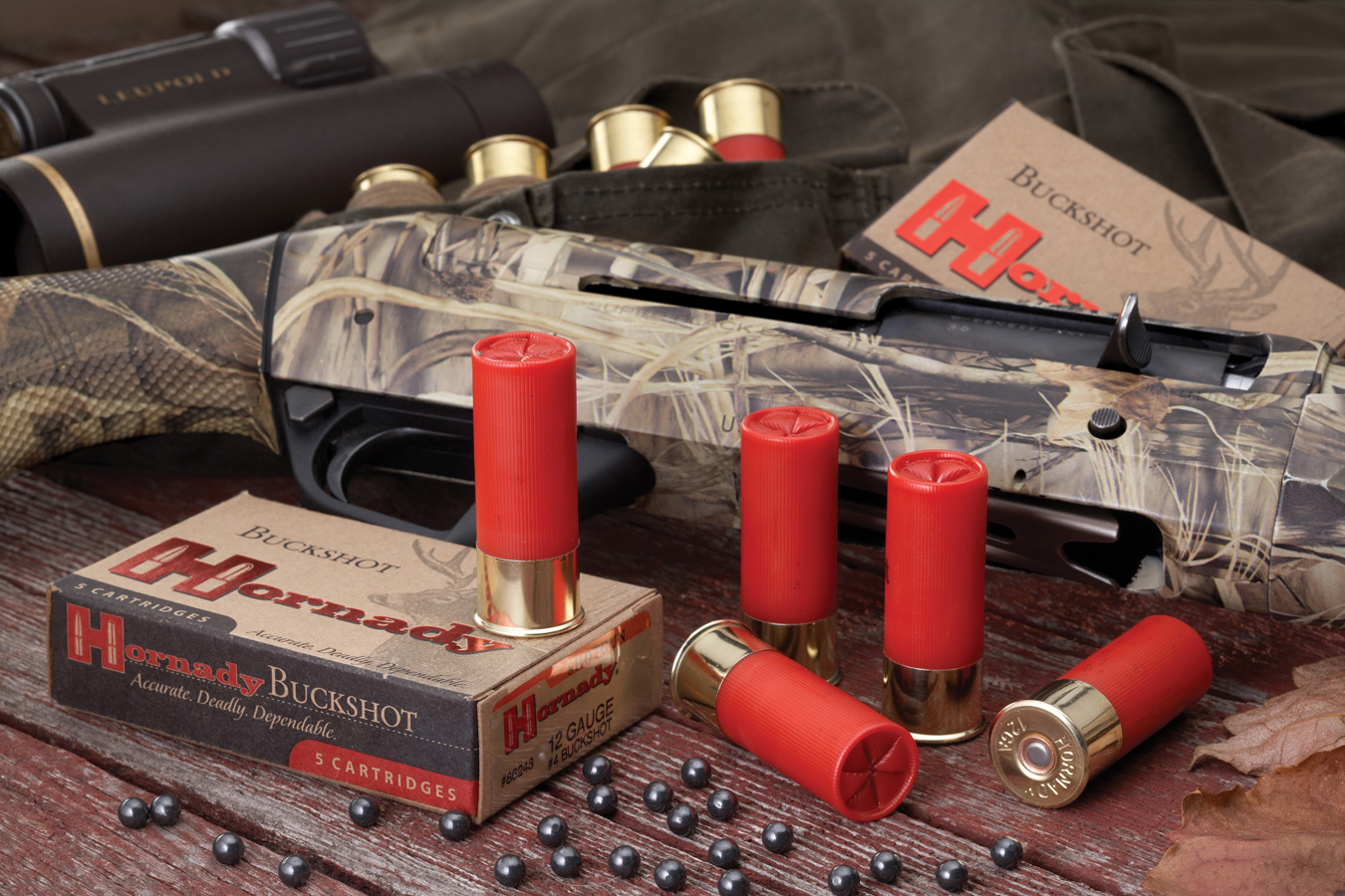 Shotgun with several shotshells