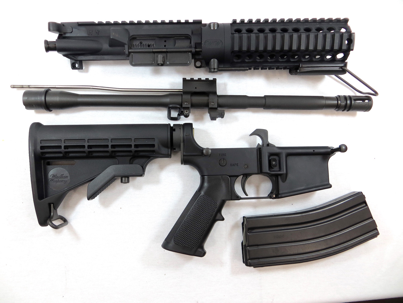 Windham takedown AR-15 disassembled