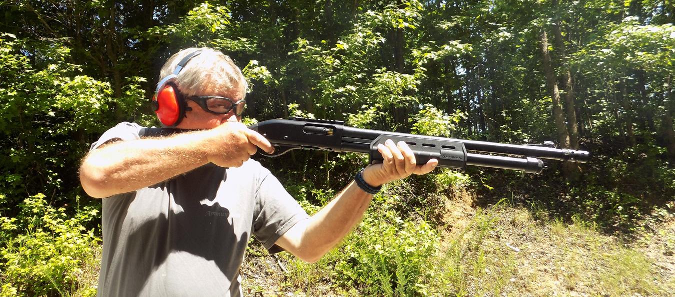 Running the shotgun takes plenty of practice.