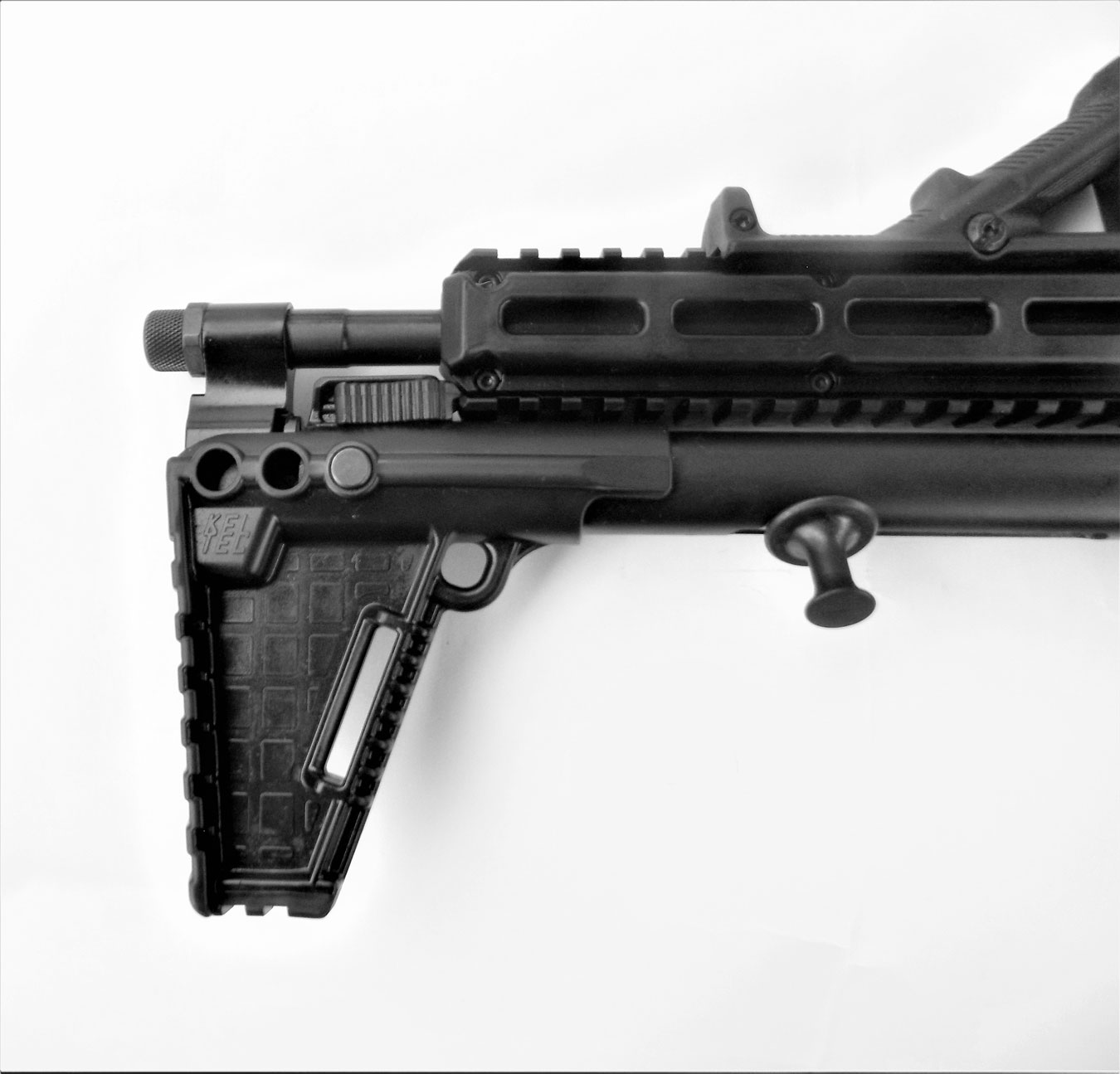 locking the Kel-Tec Sub 2000 in the folded position