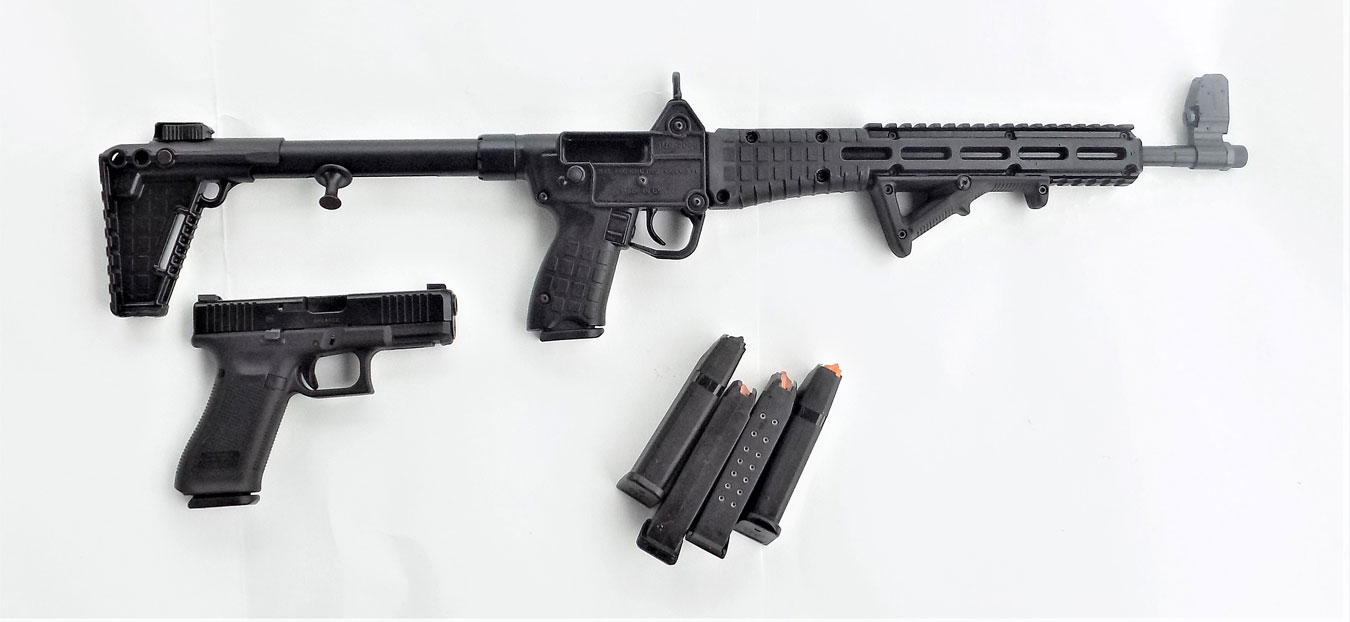 Kel-Tec Sub 2000 with several Glock 17 magazines