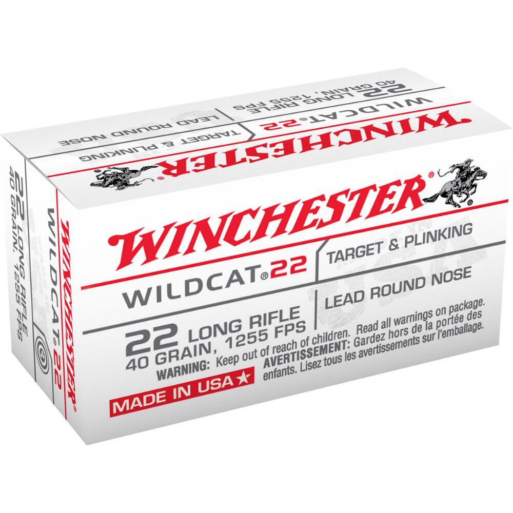 Winchester Wildcat .22 LR ammunition 500 box