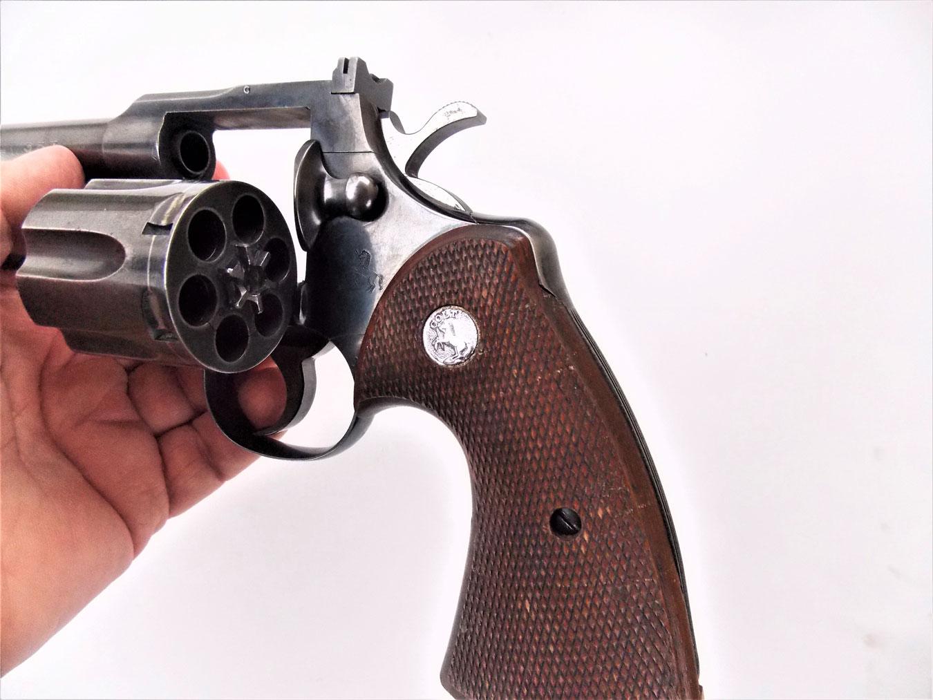 Colt .357 magnum revolver  with cylinder open