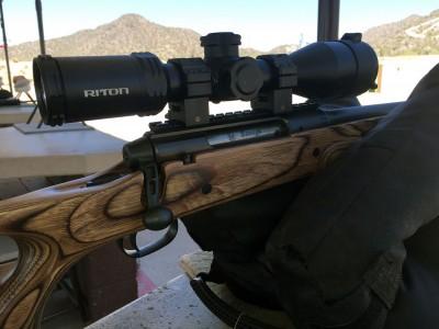 Riton scope mounted on a Savage Axis rifle