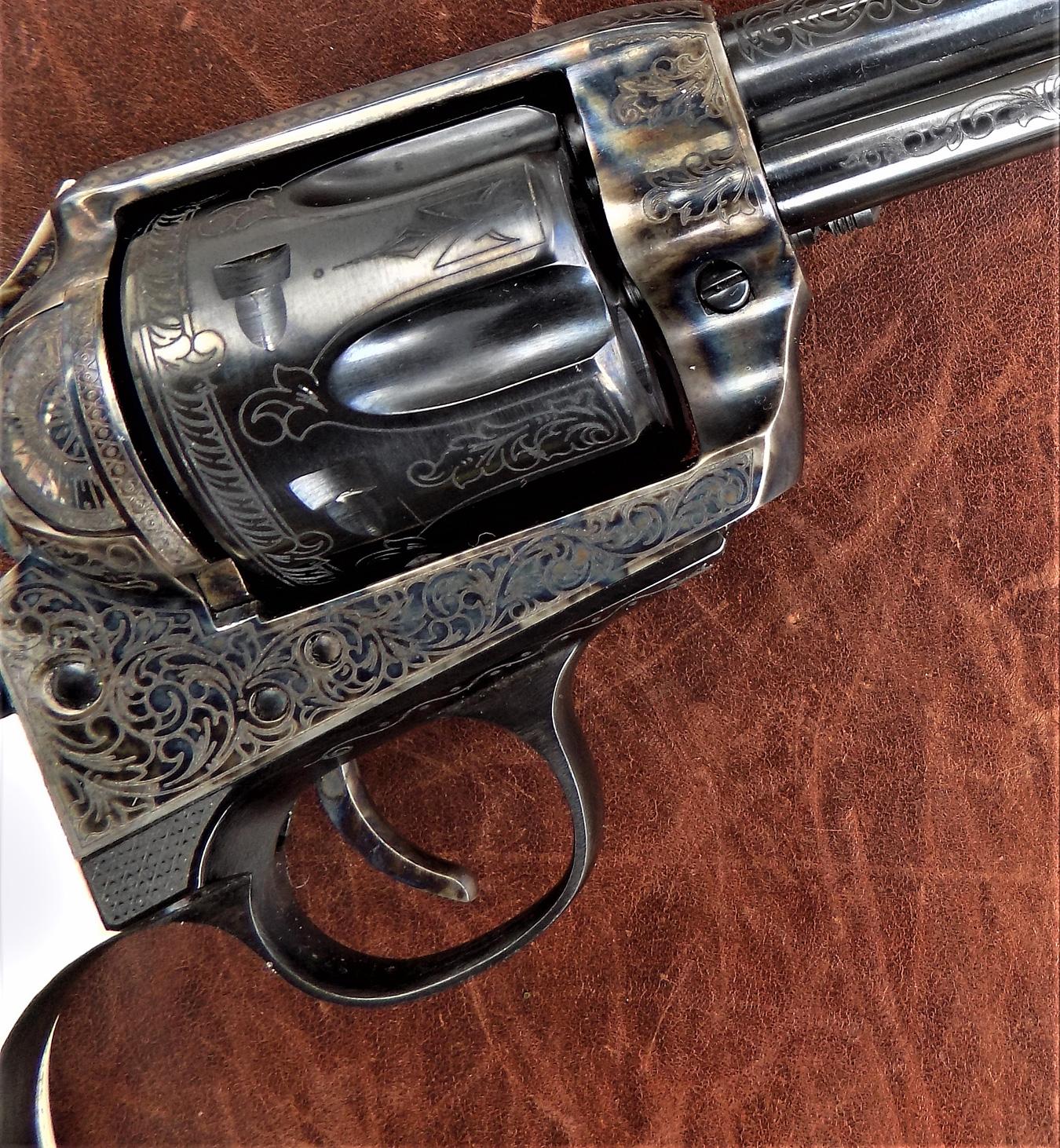 laser-engraved Pietta revolver