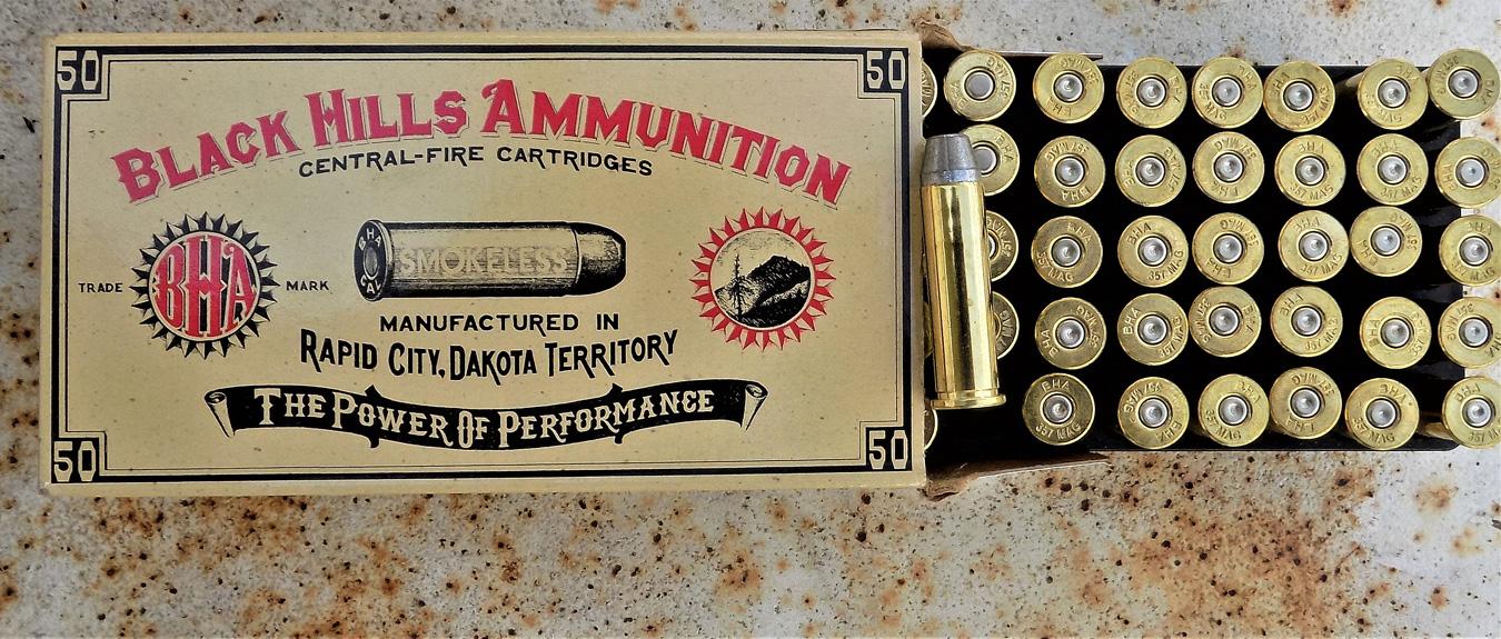 Black Hills .357 Magnum Cowboy Action ammunition