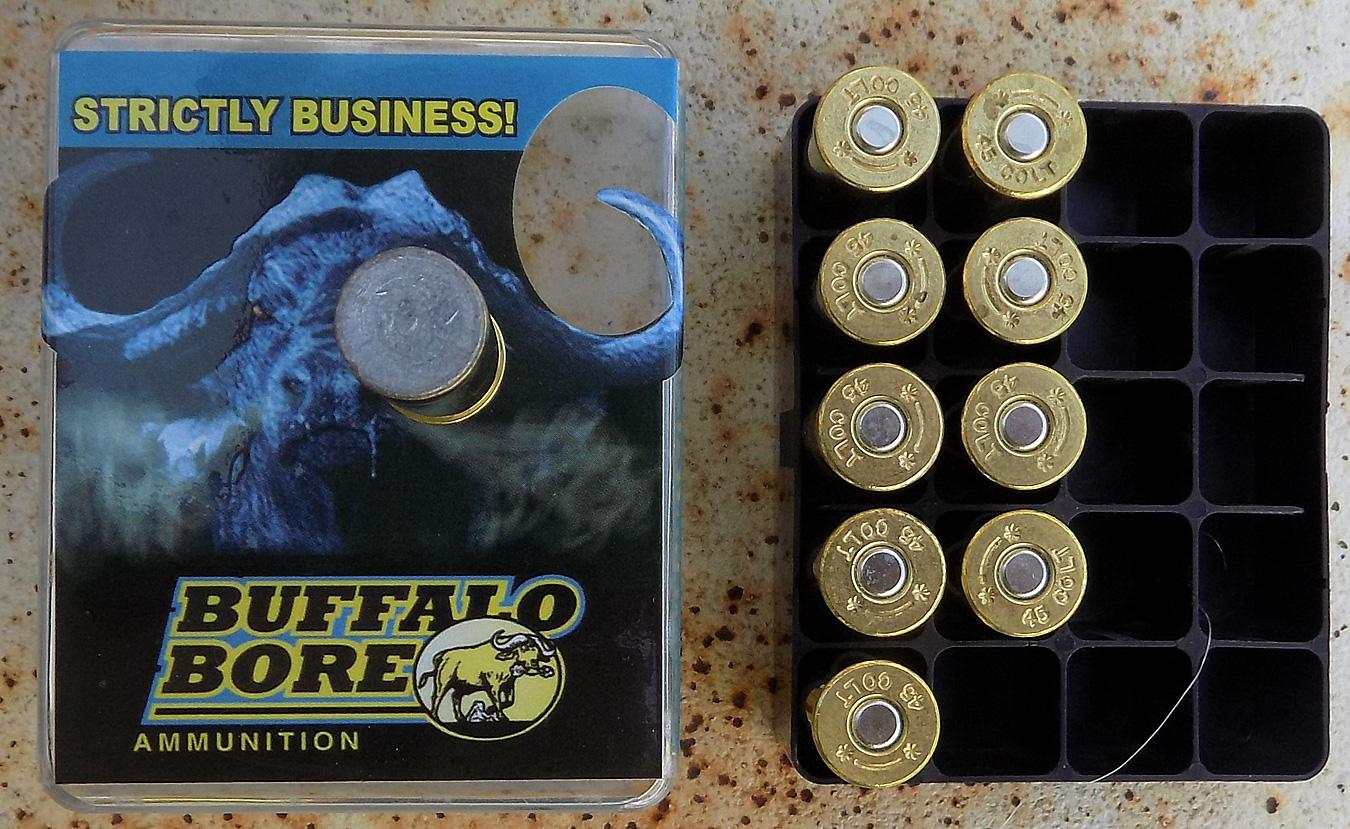 Buffalo Bore .45 Colt ammunition