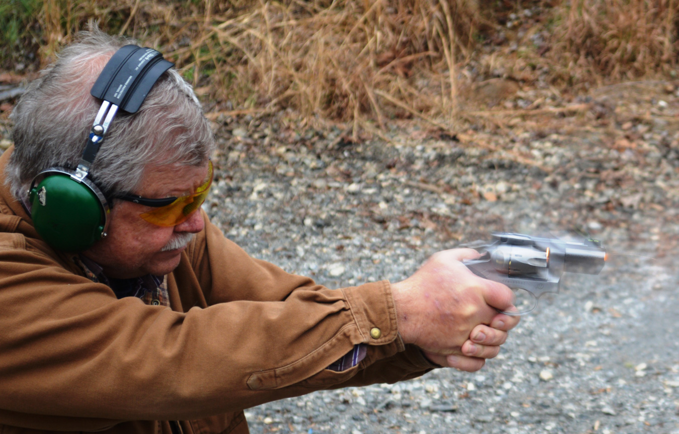 Bob Campbell shooting the Ruger GP100 revolver