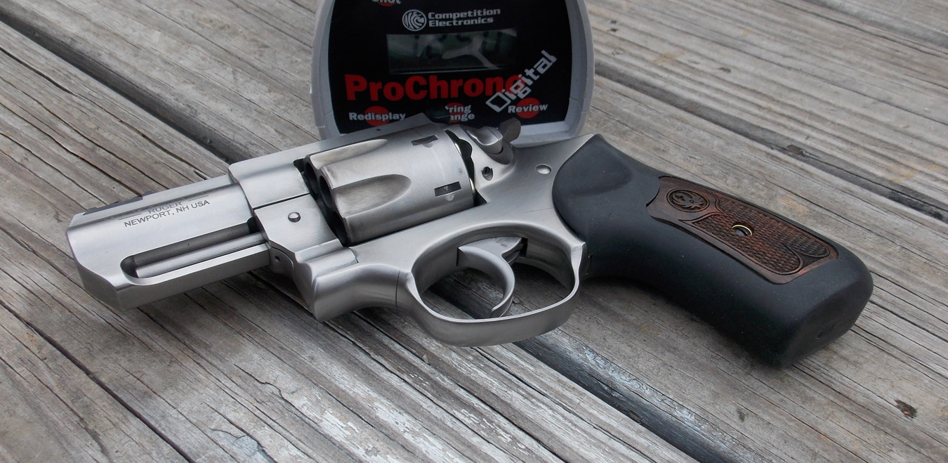 Ruger GP100 revolver and chronograph