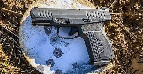 Arex Delta pistol right profile black