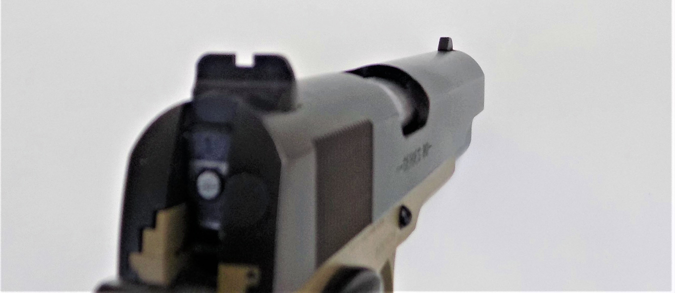 sight on the Colt 1991A1 pistol