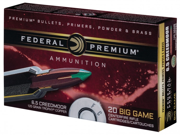 Federal 6.5 Creedmoor ammunition box