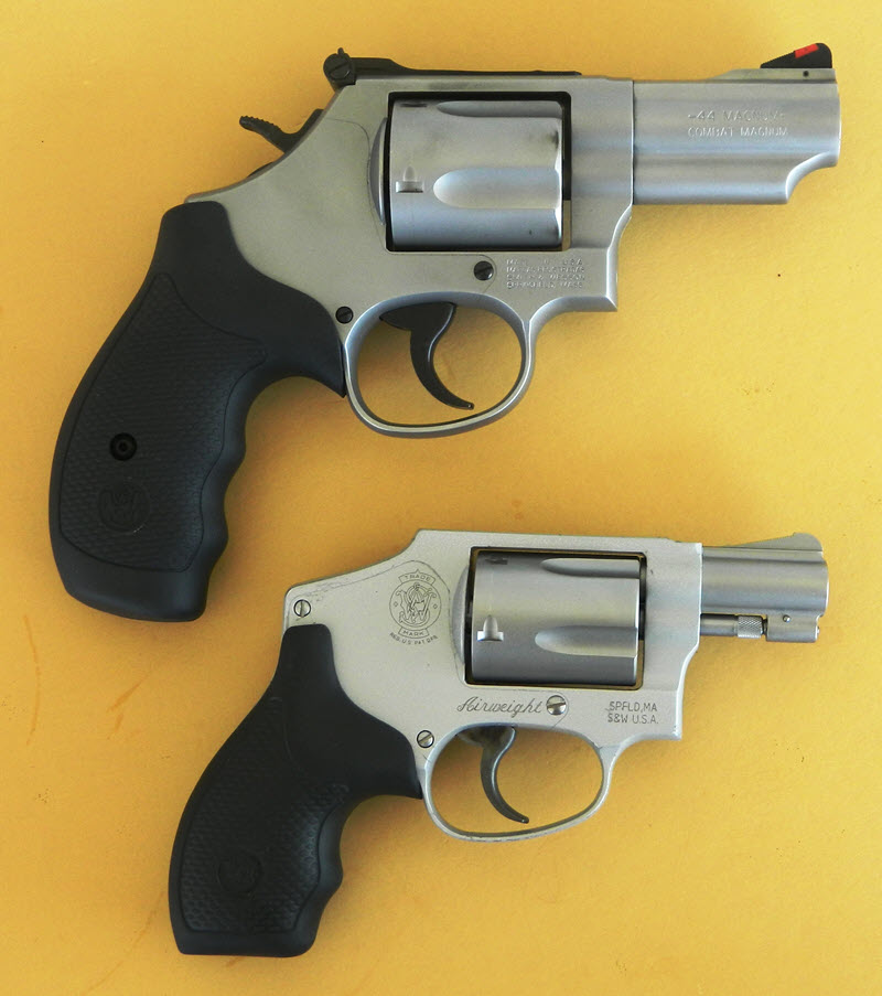 Smith and Wesson Model 69 Combat Magnum with Model 442