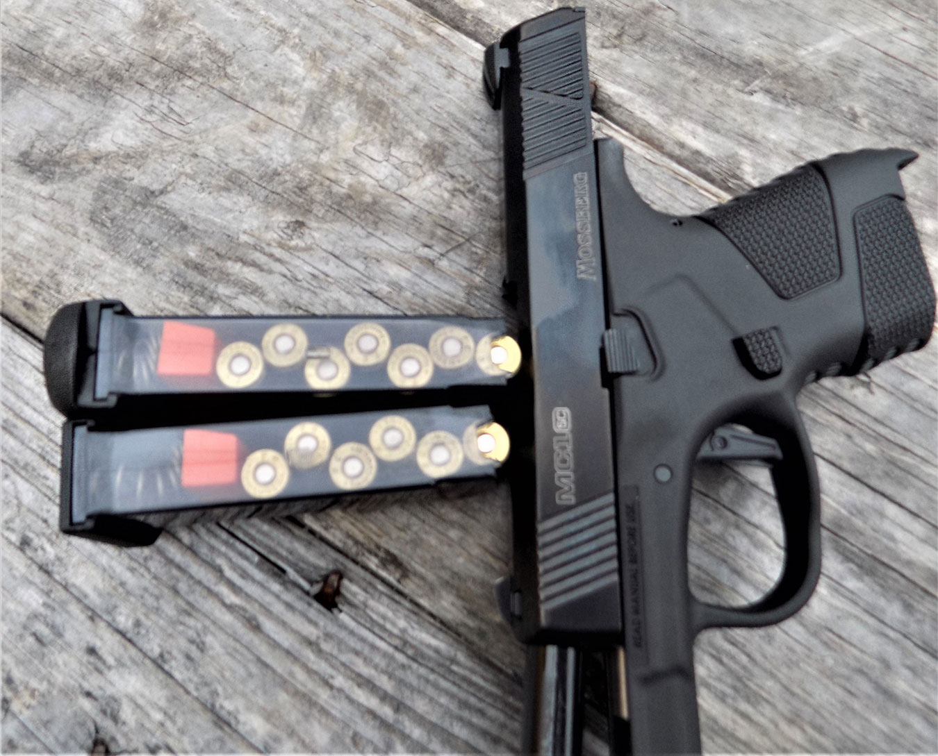 Mossberg MC1sc pistol with 6- and 7-round magazine