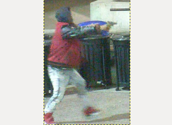 Melvin Bogus after stealing a handgun
