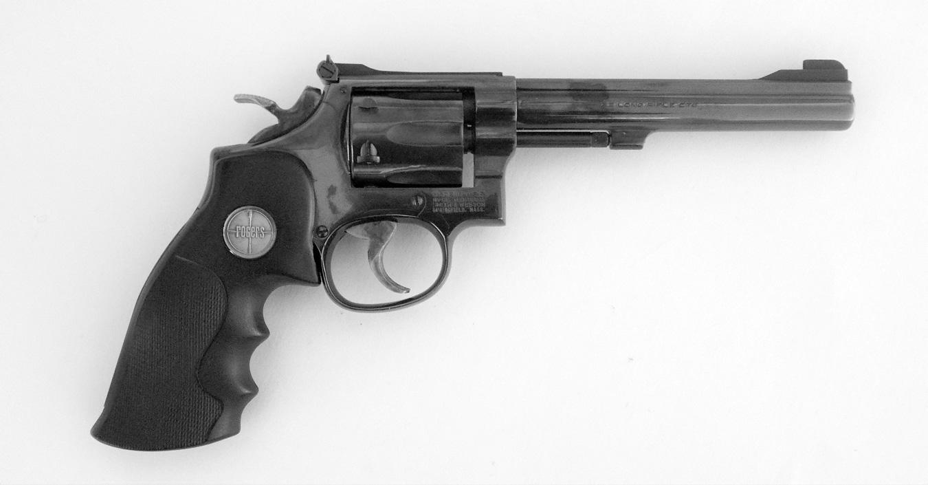 Smith and Wesson K frame rimfire revolver right profile