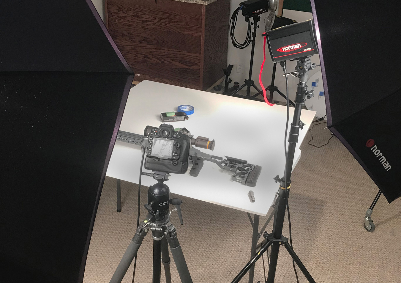 photo studio lighting setup