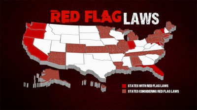 Map of current and proposed red flag law states