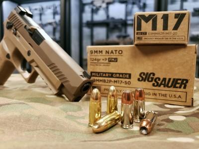 SIG Sauer M17 pistol with SIG ammunition