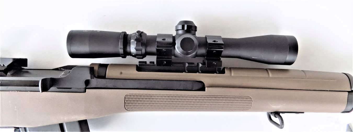 M1A rifle with scout scope