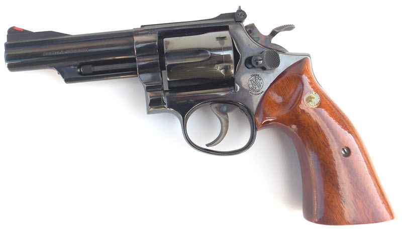 Smith and Wesson Combat Magnum with wood grips