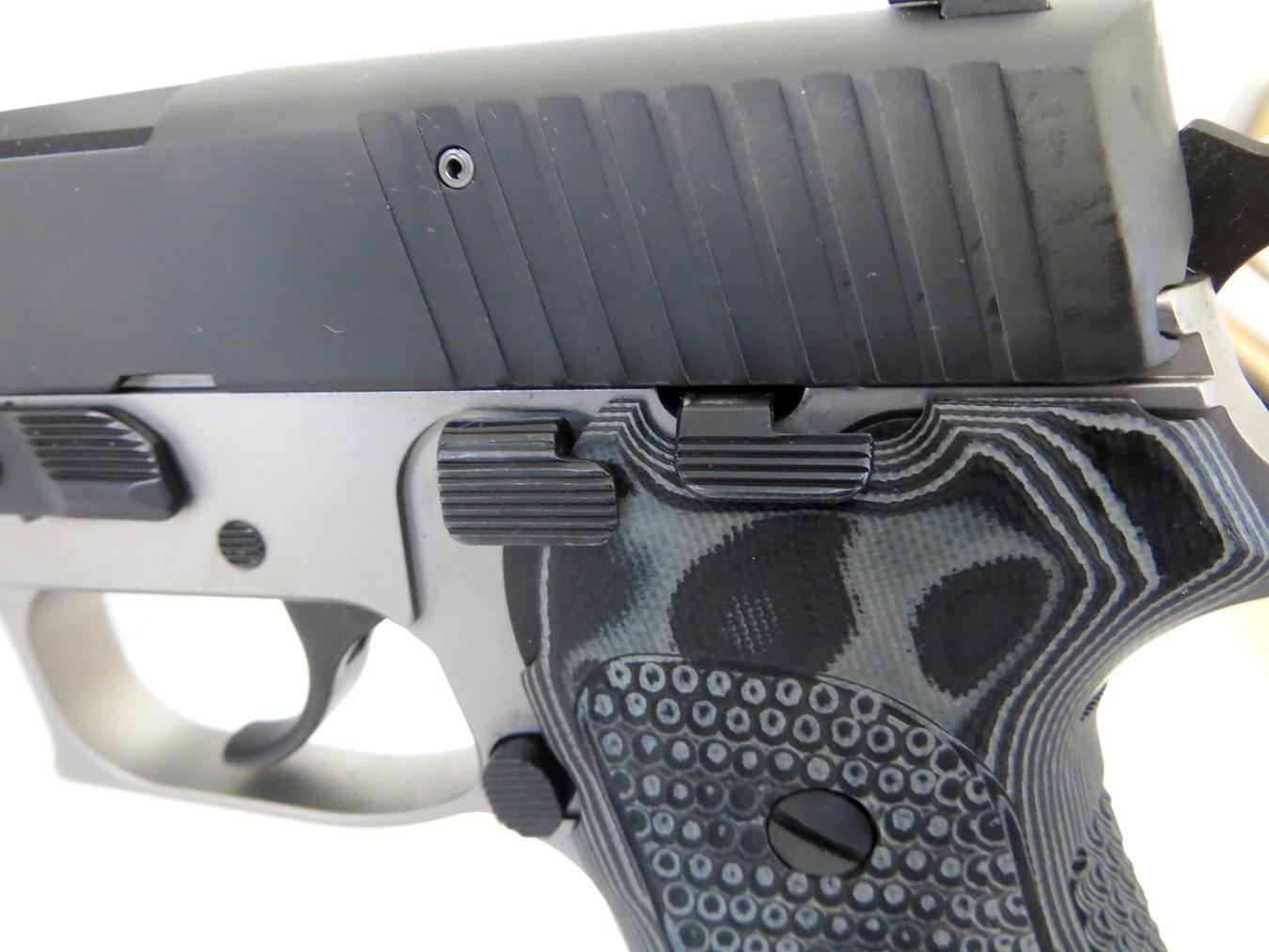 SIG Sauer 10mm pistol's decocking level